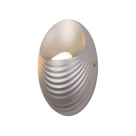 Elmark SHELL LED fali lámpa 5W 4000K természetes fehér ezüst IP40 955SHELL1W/SL