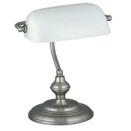 R.4037 Bank asztali lámpa, E27 60W, szatin króm