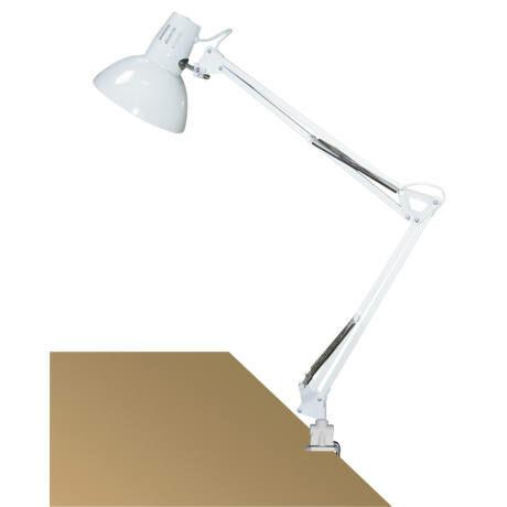 R.4214 Arno asztali E27 60W,fehér,fém satuval