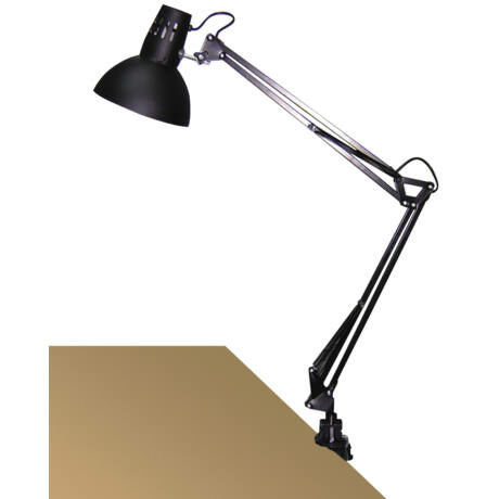 R.4215 Arno asztali E27 60W,fekete,fém satu