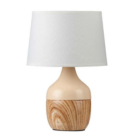 R.4370 Yvette asztali E14 max 40W bézs/fehér