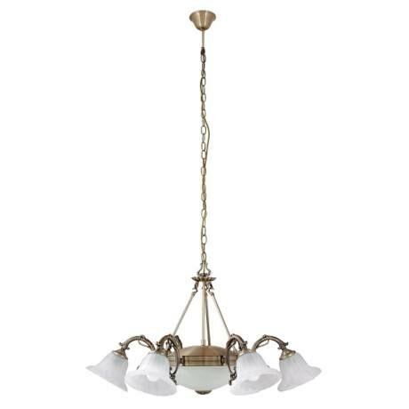 R.8556 Orchidea 6ágú csillár E14 6x40W bronz