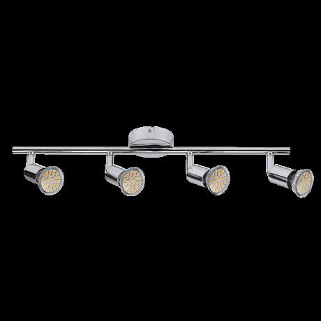 Norton LED 4-es spot lámpa GU10 4x3W fényes króm Rábalux 6988