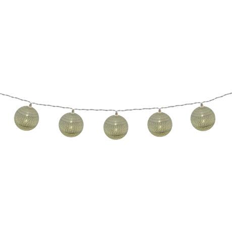 Somogyi  LED-es pamutgolyó ezüst színű pamutfonallal fényfüzér CBL 10/SL