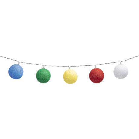 Somogyi  LED-es pamutgolyó vegyes színű dekoráció fényfüzér CBL 11/M