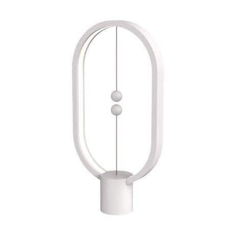 Golyós LED asztali lámpa,fehér DH0040WT/HBLEUB Somogyi