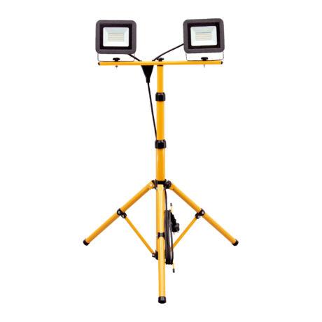 HOME Somogyi Állványos LED-es fényvető 2x30W 2x2250lm 4000K természetes fehér FLS 2/30 SMD