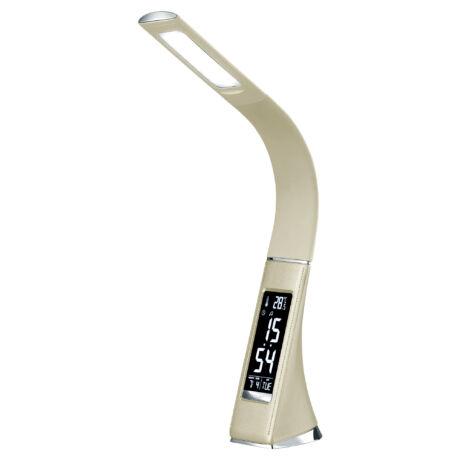 Somogyi  LED-es asztali lámpa 7W 400lm 5000K  3 fényerő fokozat hőmérő óra (12/24) naptár ébresztés a hét napja LCD kijelző Somogyi  LA 8/BG