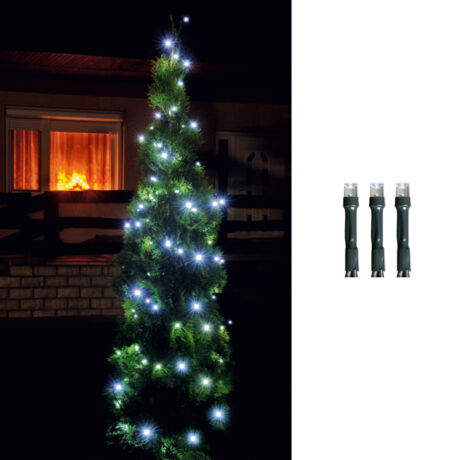 Somogyi  LED-es izzósor 200 db 8 programos 14m hideg fehér IP44 230V LED 208C/WH