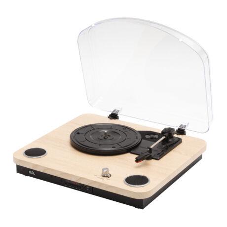 Somogyi Lemezjátszó multimédia funkciókkal zenehallgatás mobilkészülékről, számítógépről RRT 12B
