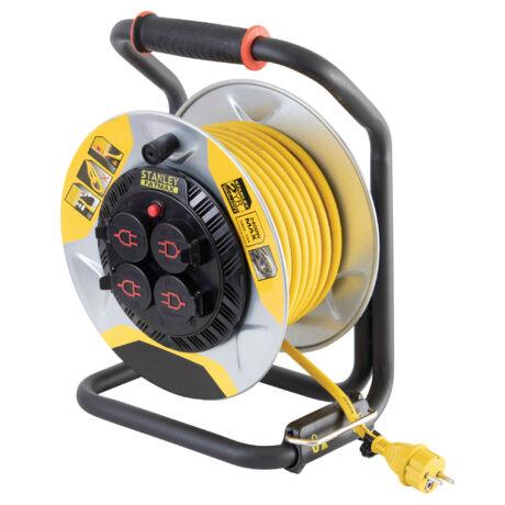 STANLEY Kültéri fém kábeldob 25m H07RN-F 3G1,5 mm IP44 3000W SXECCM2FASE