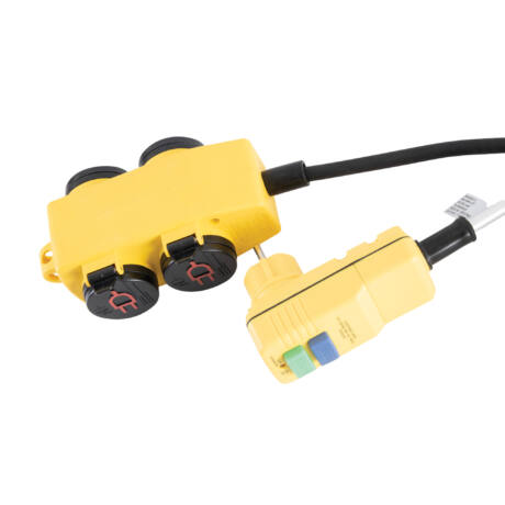STANLEY 4-es elosztó kapcsolóval, RCD dugóval 5m kábel H07RNF 3G1,5 mm SXECCR25AJE