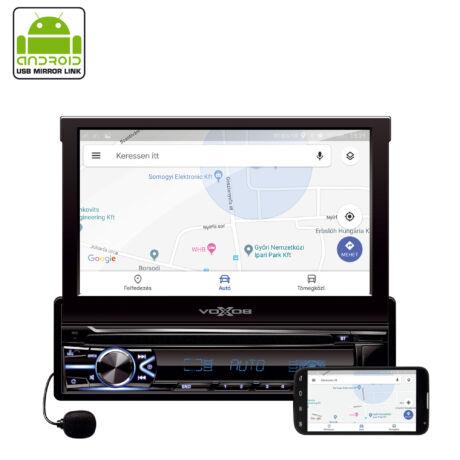 Somogyi Autórádió és multimédia-lejátszó dupla kijelző LCD kijelző sáv az előlapon VB X800