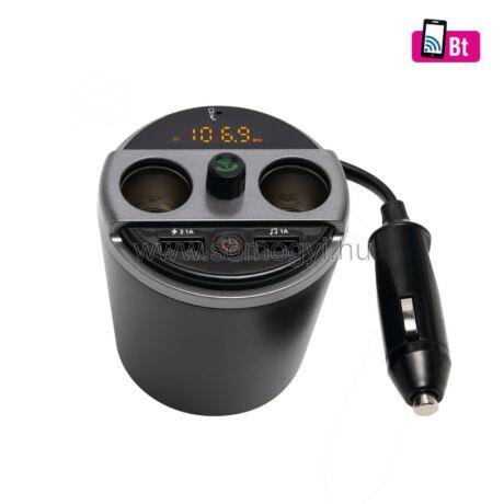 Somogyi  Multifunkciós autós töltő USB 12/24V FMBT 16
