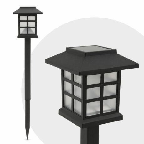 LED-es szolár lámpatest-lángokat imitáló -fekete 29 cm napelem 1.2 V, 150 mAh Ni-Cd akkumulátor 11403B