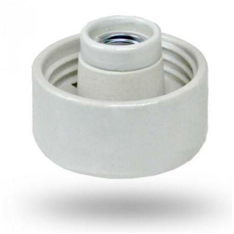 E27 porcelán lámpa alj foglalat 60W fali egyenes (falra és mennyezetre szerelhető) DEL078