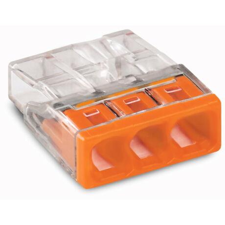Wago vezetékösszekötő 3-as 3x0,5-2,5mm2 100db/csomag 2273-203 Új