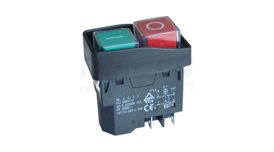 Tracon miniatűr bepattintható relés biztonsági kapcsoló fekete kerettel SSTM -03 652e15714d
