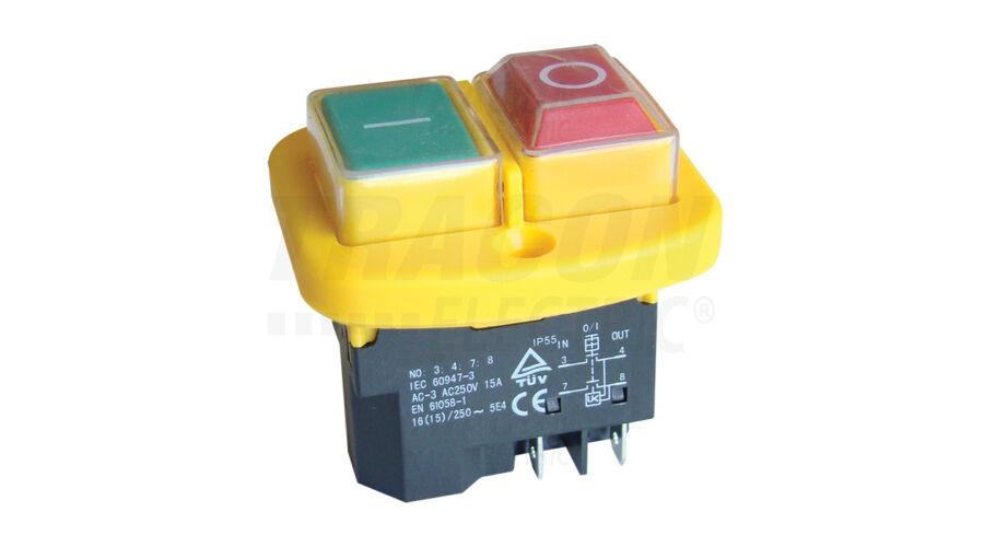 Tracon csavarozható relés biztonsági kapcsoló sárga kerettel SSTM-04 ... 11dd3c2703